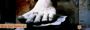 Giant marble foot - senior foot care